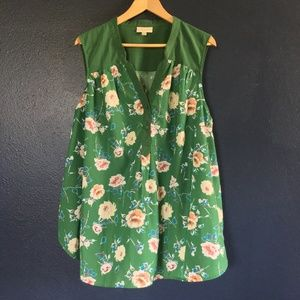 Girl About Easton Sleeveless Tunic in Garden